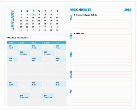 Free weekly calendar templates on Office - Excel