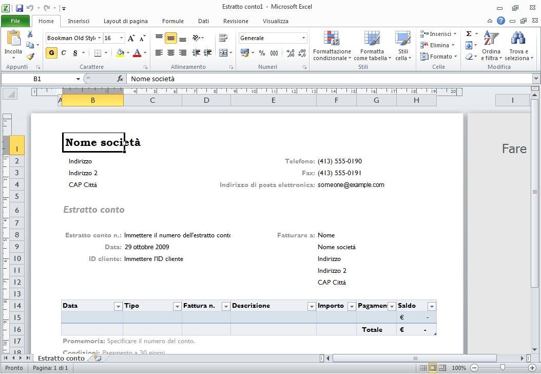 Utilizzo dei modelli - Supporto di Office