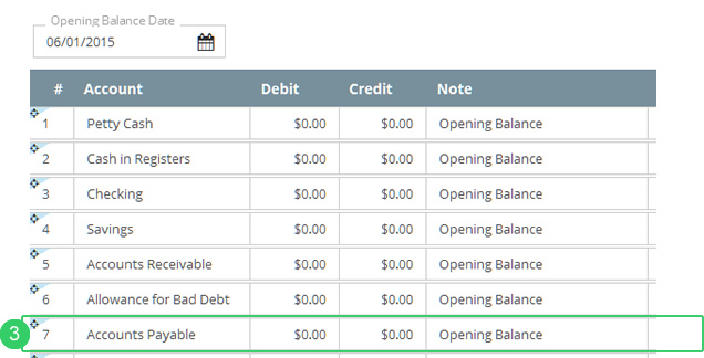 Migration step 6 record accounts payables \u2013 Help for Flare online