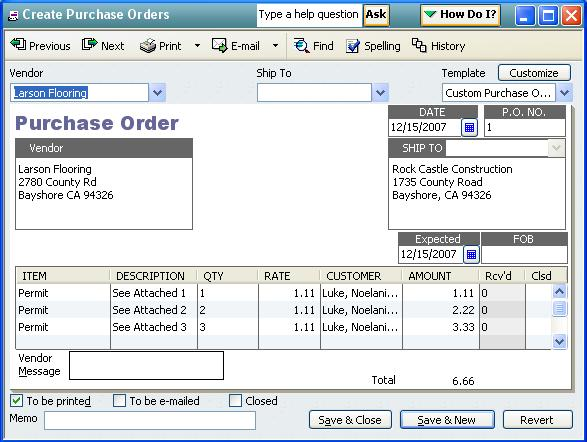 QODBC-Desktop How to create a Purchase Order using QODBC - Powered