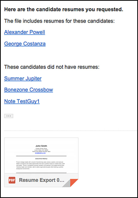 Bulk Download and Print Resumes \u2013 Greenhouse Support