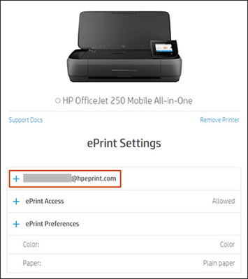 HP Connected - Changing Your HP ePrint Email Address HP® Customer