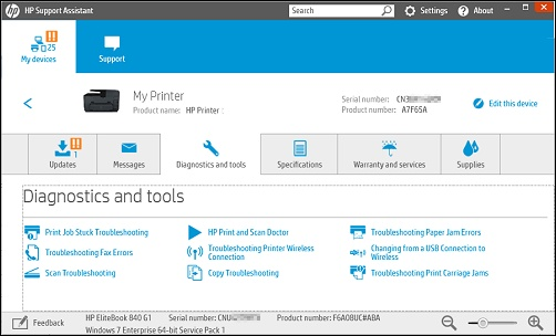 HP Printers - Using HP Diagnostic Tools for HP Printers in Windows