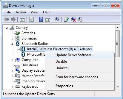 драйвер bluetooth для windows 7 для hp