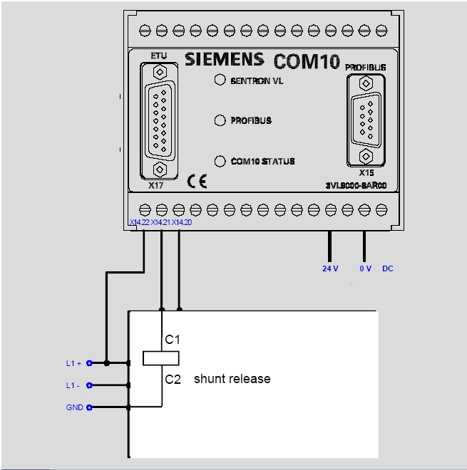 Tripping the circuit-breaker 3VL by shunt release over PROFIBUS - ID