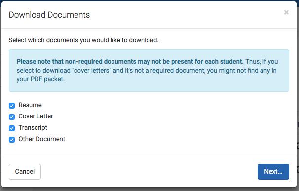 download resume from handshake