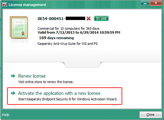 How To Renew Activation Code For Kaspersky Endpoint