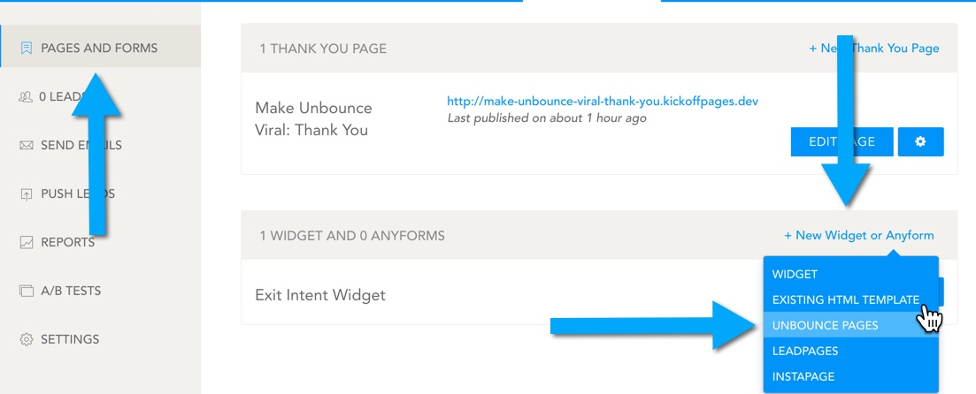 How to connect AnyForm to your Unbounce Landing Pages