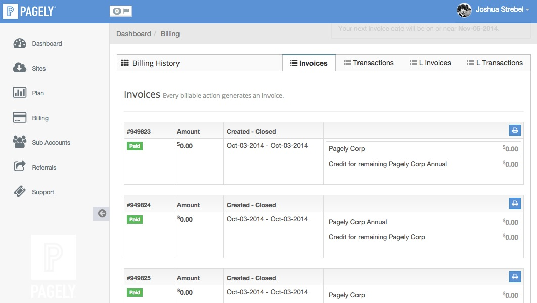 Where can I view/print my invoices? \u2013 Pagely® Hosting Support Desk - Invoice Print