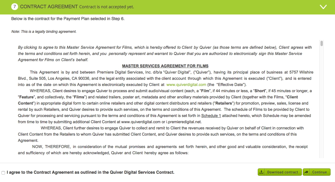 Step 7 Contract Agreement \u2013 Help Center