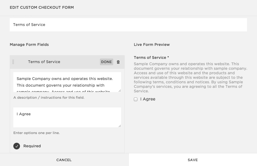 Creating a custom checkout form \u2013 Squarespace Help