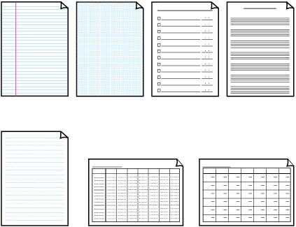 Canon Knowledge Base - Printing Template forms - MX340 - Printing Paper Template