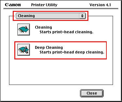Canon Knowledge Base - Deep cleaning the Print Head (Mac OS 81 - 9