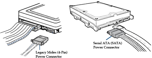 sata hdd power cable schematic