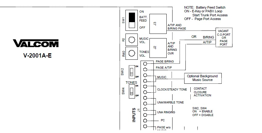 VALCOM PAGING SYSTEM WIRING DIAGRAM - Auto Electrical Wiring Diagram
