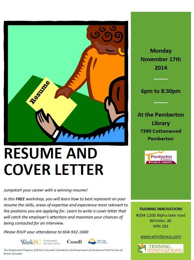 Free Resume and Cover Letter Writing Workshop, Monday November 17