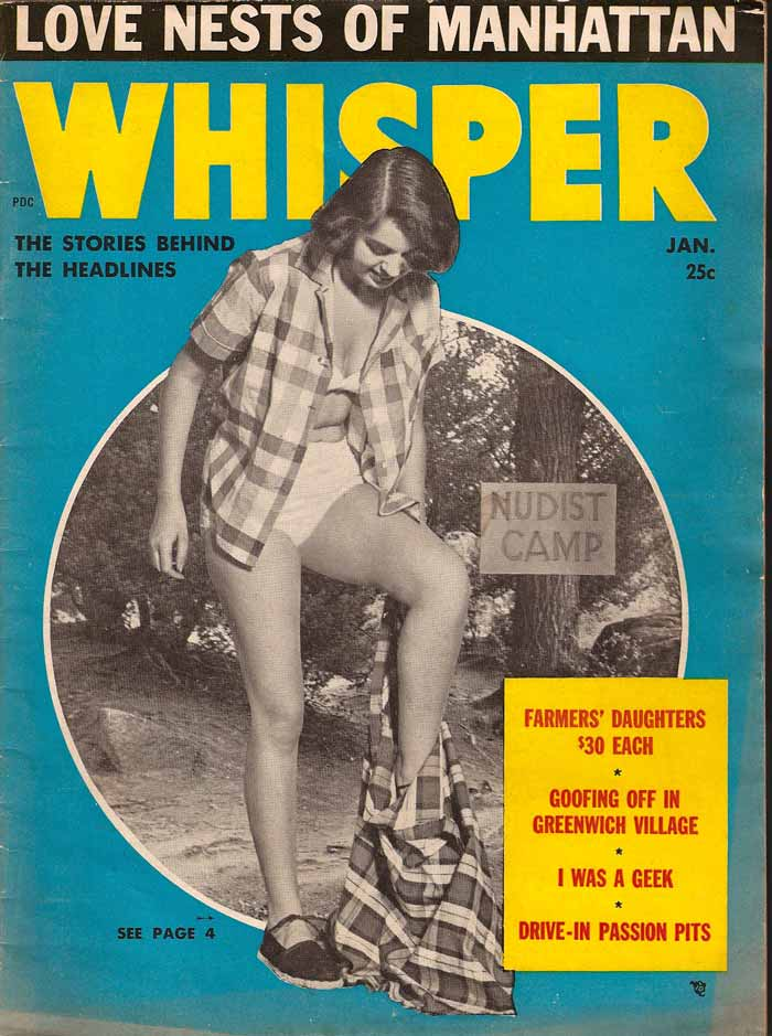 Whisper - 1955 - Old vintage sexy magazine