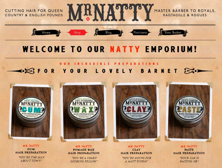 Mr. Natty - London Barber - Hair products