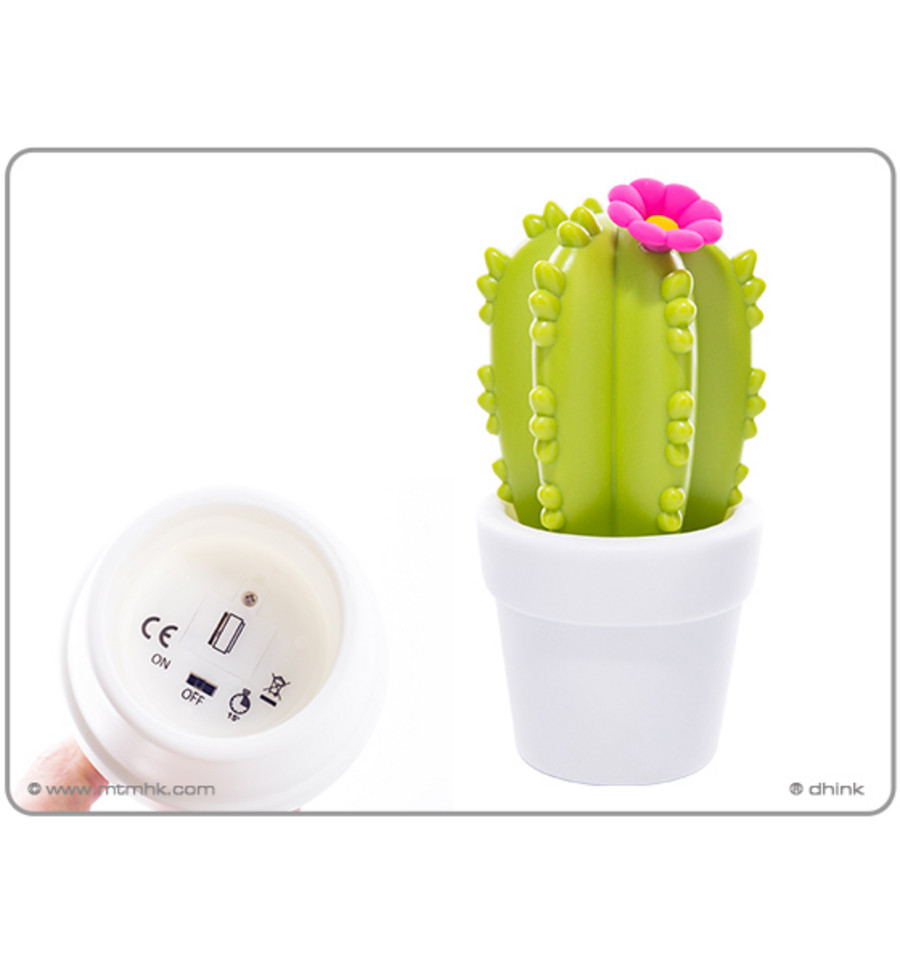 Led Verlichting Cactus Nachtlamp Led Cactus Colour Changing Dhink 15min Timer Wit