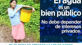 Lucha por aprobar proyecto de ley de aguas sigue vigente2