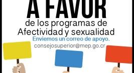 Campana de correos en apoyo a Programa de Afectividad y Sexualidad Integral