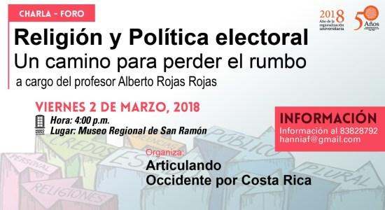 Charla Foro Religion y Politica Electoral