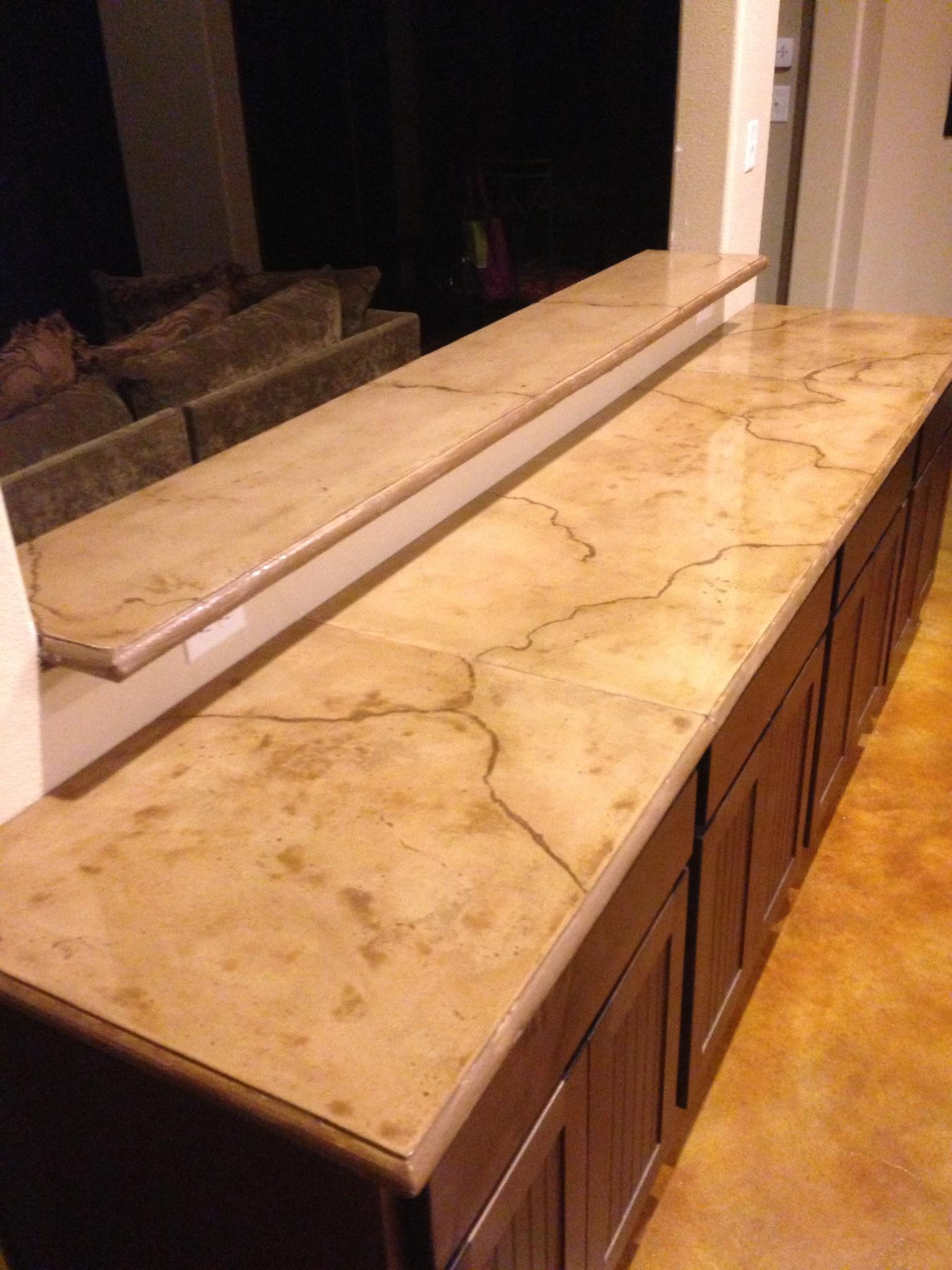 Finished Concrete Countertops Concrete Installer Discovers Concrete Countertops