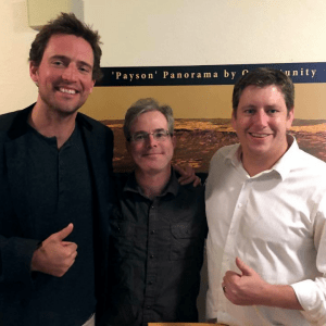 Andy Weir with Owen and Kevin