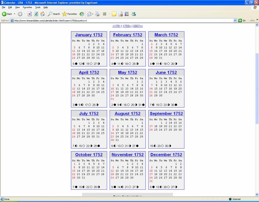 Julian Calendar Gregorian Calendar The Gregorian Calendar Time And Date September 1752 Suresh J David