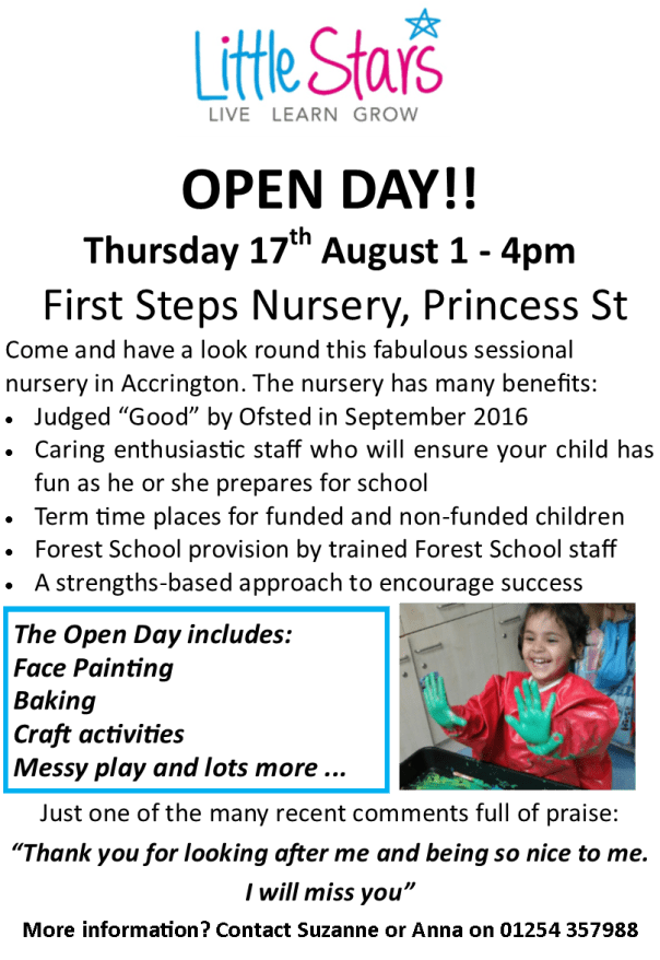 First Steps Open Day
