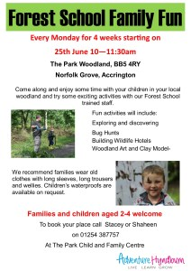Forest Family Day Poster A4 pre school