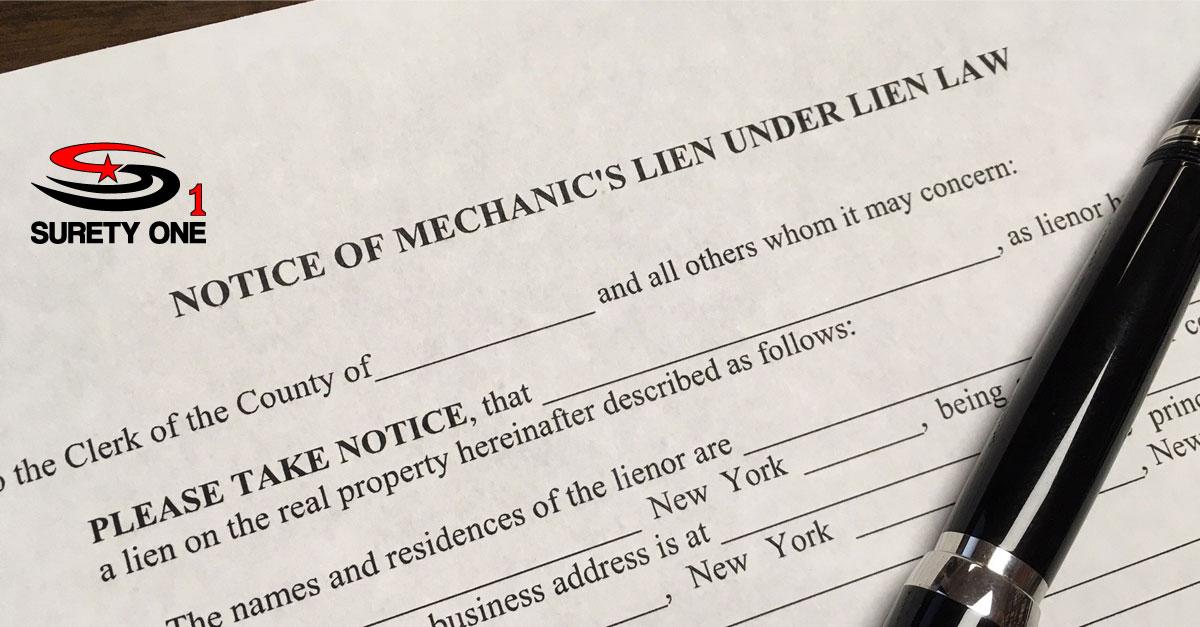 New York Mechanic\u0027s Lien Release Bond \u2022 Surety One, Inc