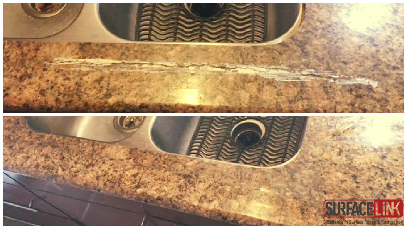 Help My Granite Cracked In Front Of The Sink Surface Link