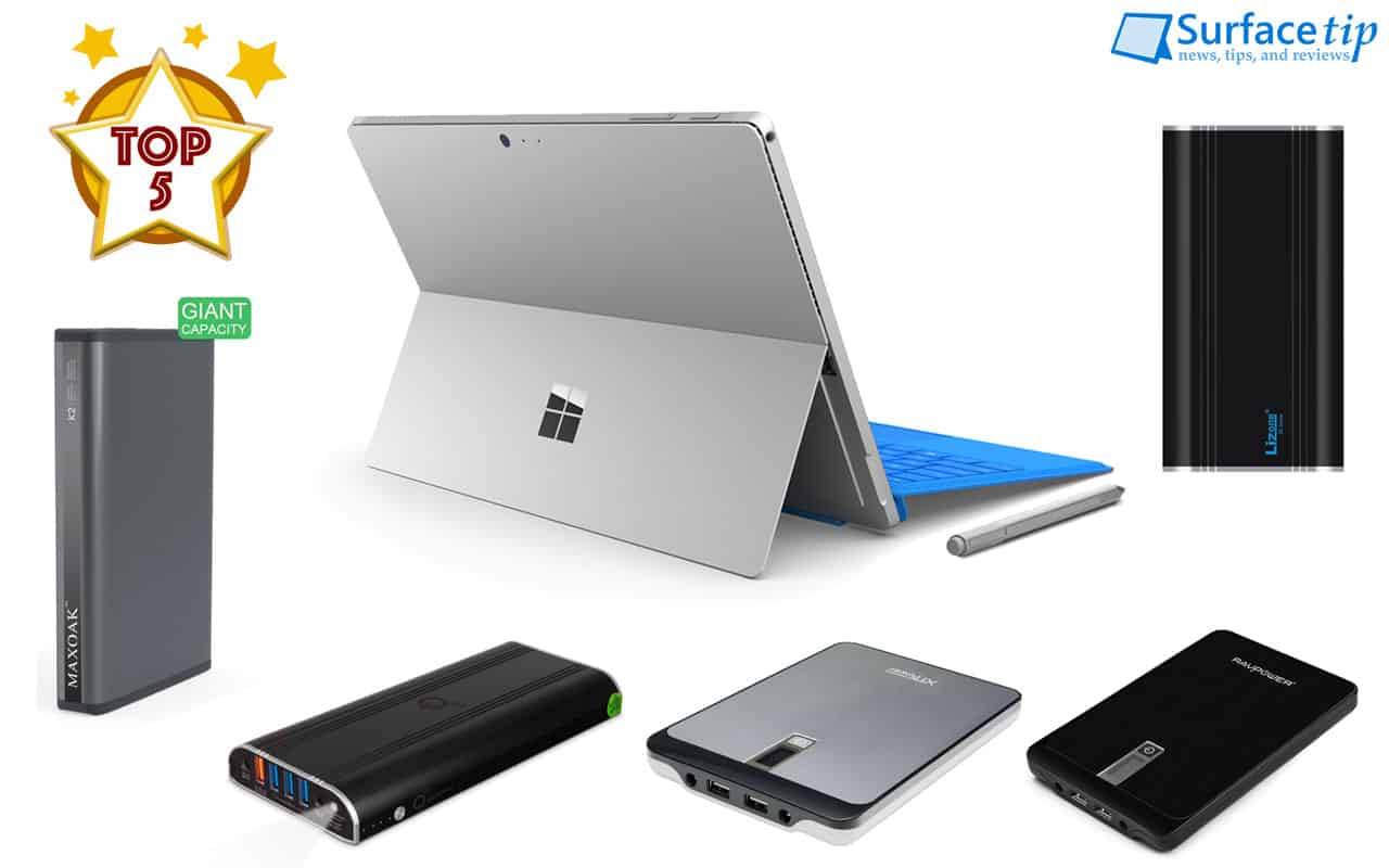 Diy Power Bank Ac Best Power Banks For Surface Pro Surface Book Surface Laptop In 2019