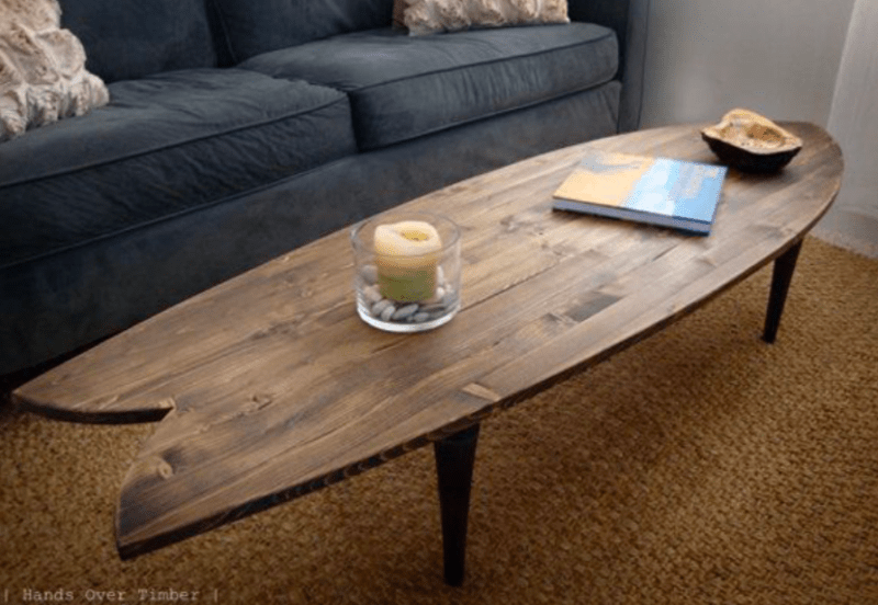 Couchtisch Surfbrett Apúntate Estas 16 Originales Ideas De Decoración Con