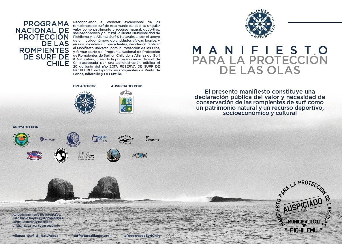 Manifesto For The Protection Of The Waves Surf Nature Alliance