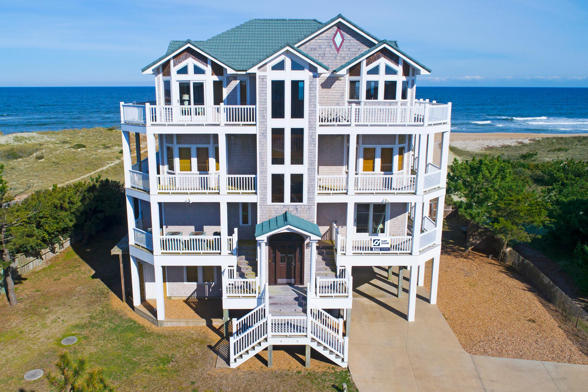 Sea Glass 679 8 Bedroom Ocean Front Home In Waves Obx Nc