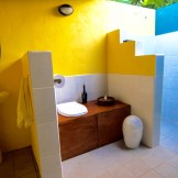 Eco-friendly (non-smelly) Composting toilets.
