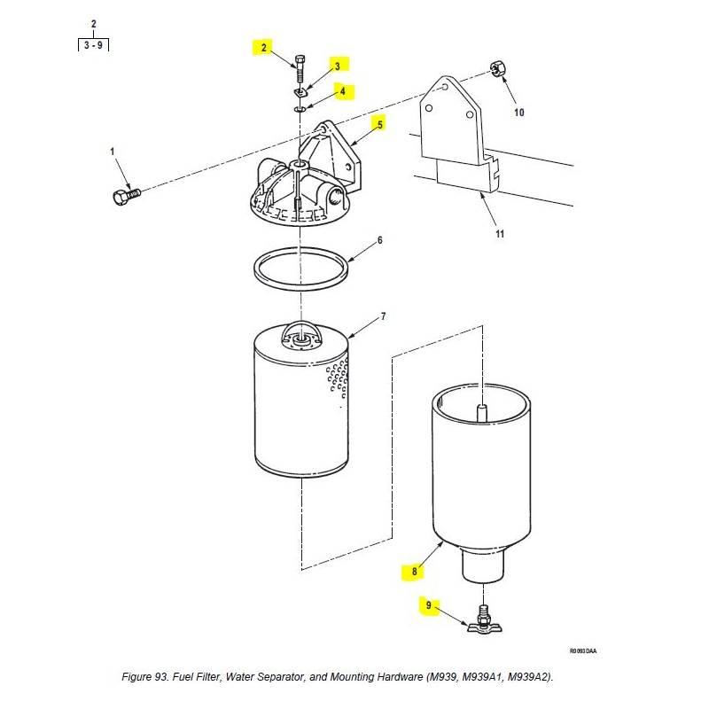 yanmar fuel filter water separator