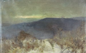 Landscape towards Peaslake by William Hyge
