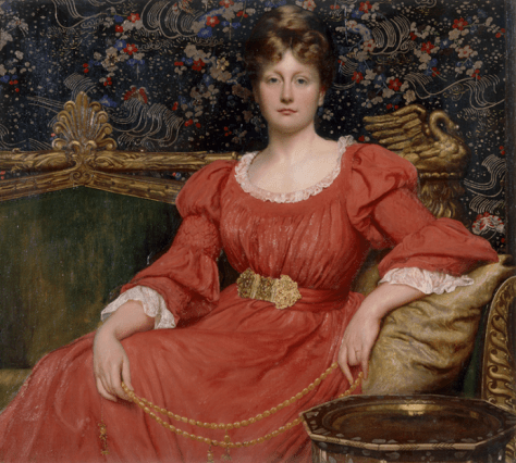 William Blake Richmond, Mrs Luke Ionides, 1882, Oil on canvas, V&A