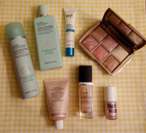 Glowy beauty products