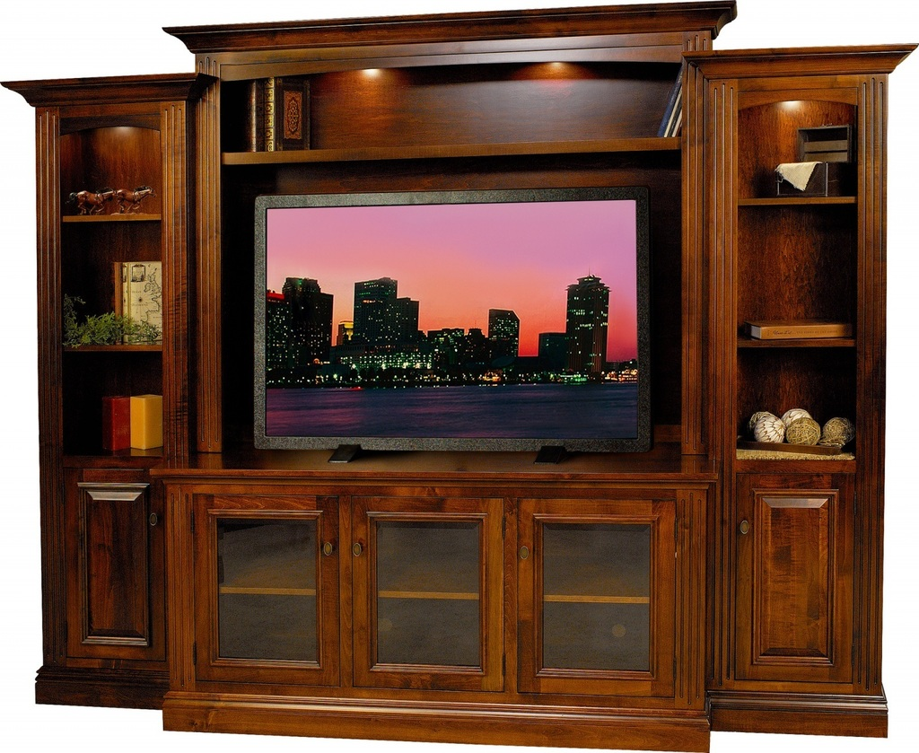 Wall Unit Wooden Amish Berlin Tv Entertainment Center Surrey Street Rustic