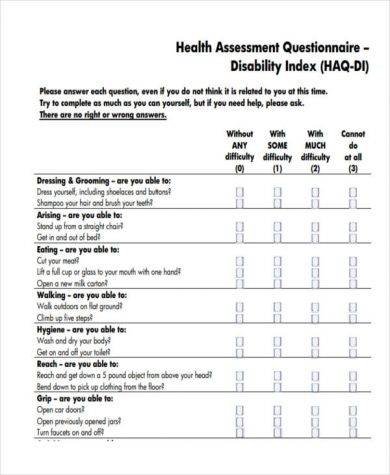 Health-Assessment template-pdf-Word-docs \u2013 Survey Templates and