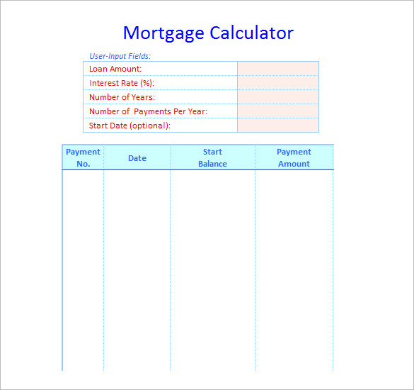 excel-sheet-template-Mortgage-Calculator-Schedule-Template-Free - mortgage templates