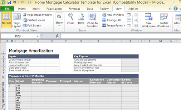 mortgage calculator excel Survey Templates and Worksheets - Loan Calculator Excel