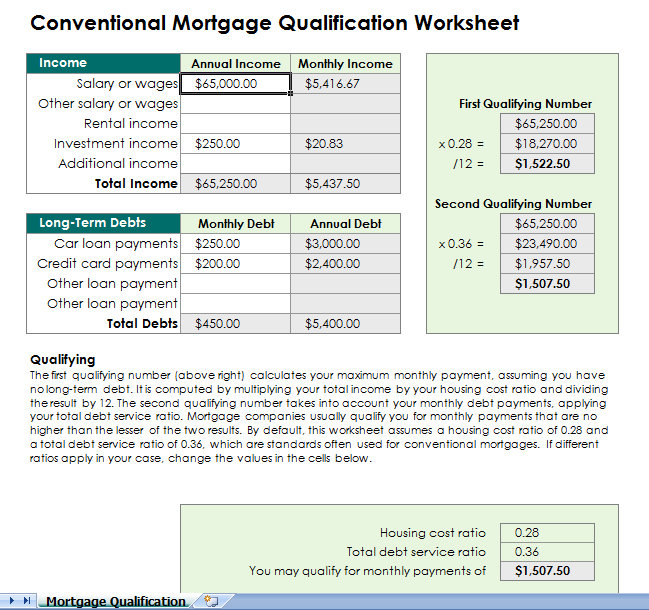 Mortgage Templates Survey Templates and Worksheets - mortgage payment calculator template
