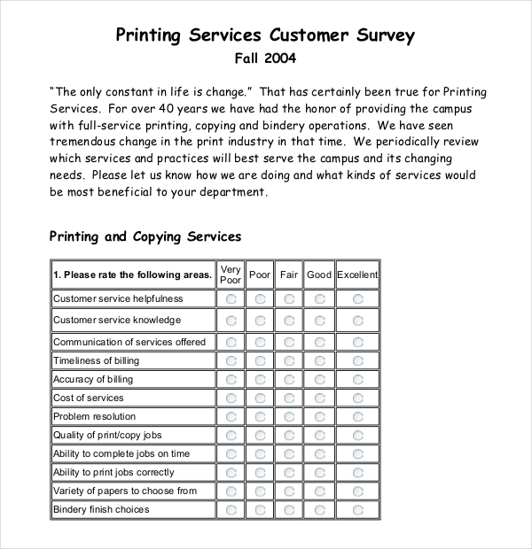 Use Survey Templates Survey Templates and Worksheets - Free Survey Template