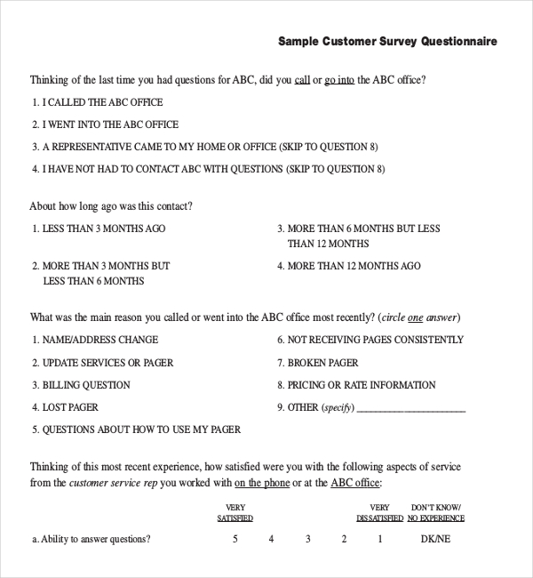 free-business-docx-Sample-Customer-Survey-Questionnaire-Template