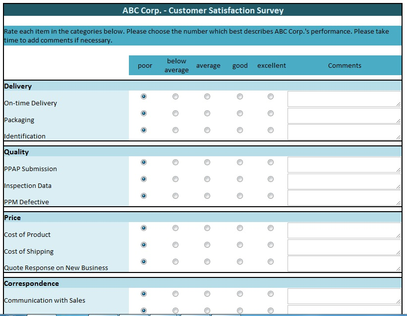 customer satisfaction survey opening statement Survey Templates
